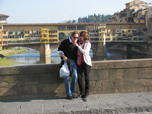 Gelato with a view of the Ponte Vecchio